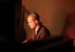 Lee Walker on piano