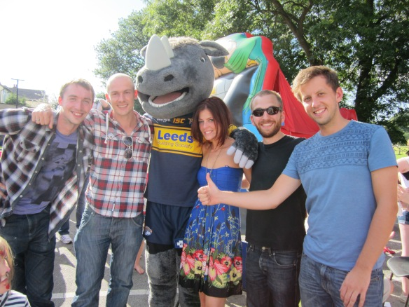 Local Celebrity Leeds Rhino Mascot
