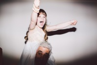 Girl cheering