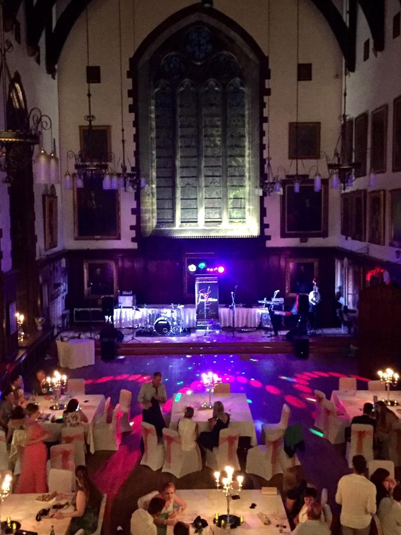 Durham Castle Wedding Live Music Stage
