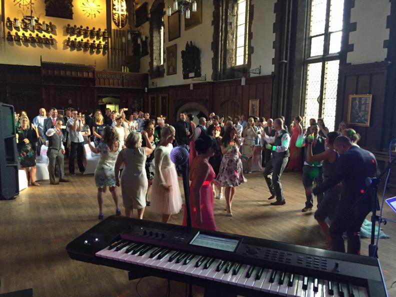 Durham Castle Wedding Guests Dancing