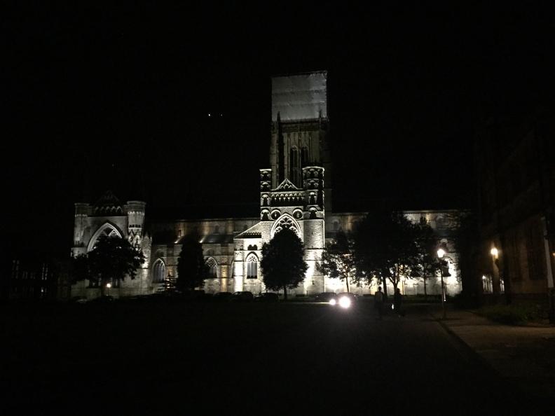Durham Castle Night Lights