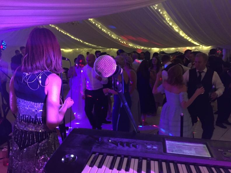 Live Music Wedding Band Dancing Dance Floor Wedding Guests