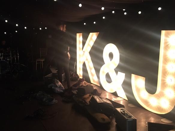 K&J Wedding Illuminations Dance Floor Middleton Lodge Wedding Party Band