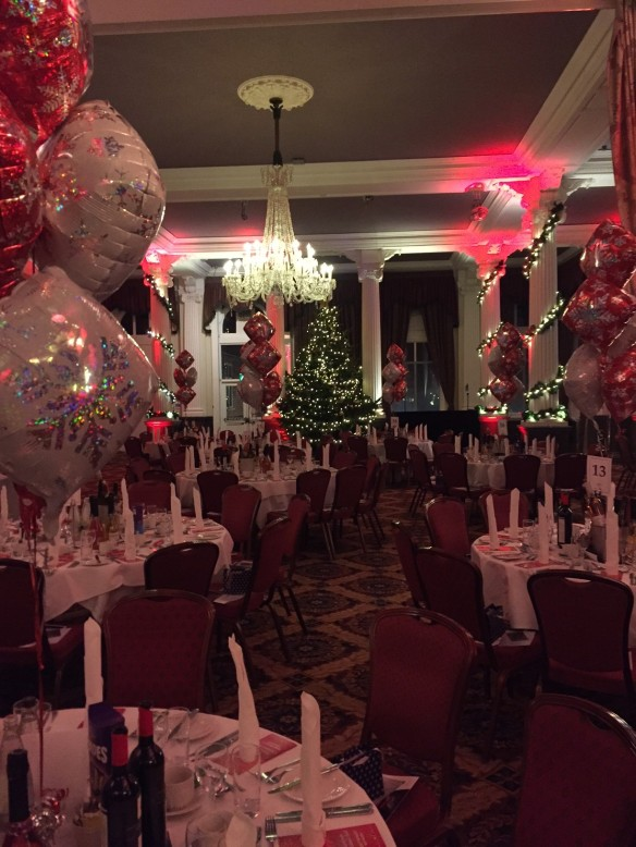 Christmas Party Decorations Live Band Music Manchester Marriott Hotel